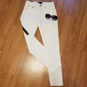 Banana Republic Sculpt Skinny white jeans